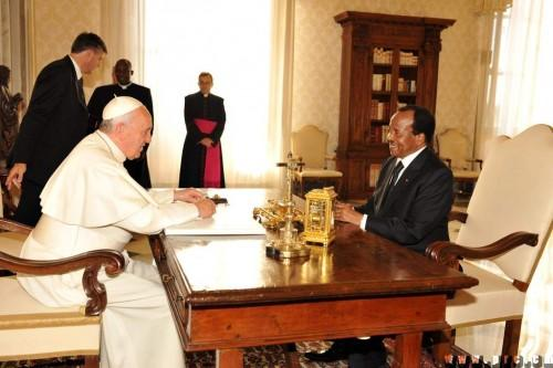 paul biya chez le pape fran ois un accord juridique sur l glise catholique bient t sign. Black Bedroom Furniture Sets. Home Design Ideas