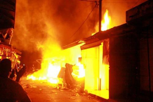Neuer Brand auf dem Kongo-Markt in Douala, der wirtschaftlichen Hauptstadt Kameruns
