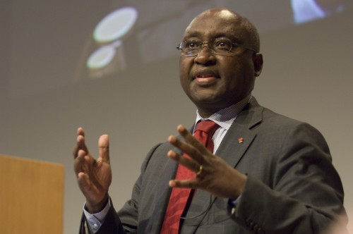 Donald Kaberuka, président de la BAD qui a exprimé son intention de financer le projet à hauteur de 54,5 milliards de francs CFA.