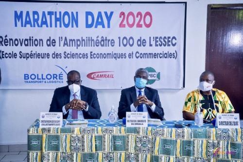 """Training: Bolloré annoncéiert """"eng laang Zesummenaarbecht"""" mat der Universitéit Douala"""