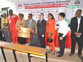 huawei-cameroun-renouvelle-la-convention-de-partenariat-avec-l-iuc